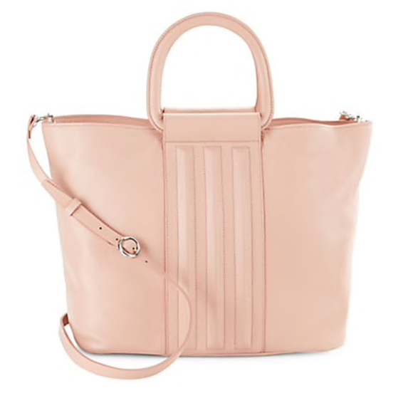•H Halston• Blush Pink Leather Tote 7897d45a949f0